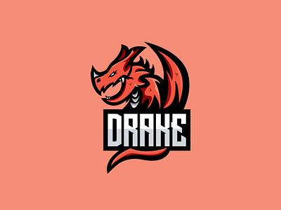 DragonLogo Esports Style esport logo twitch esport mascot esports mascot esportlogo gaming esports