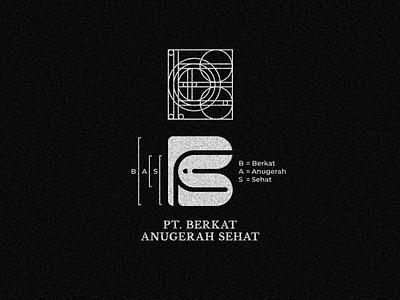 MONOGRAM LETTER BAS animal bold icon clean identity branding modern simple logo mark monogram