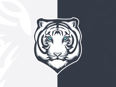 White Tiger Esport logo esport gaming gaming channel sports dota 2 esport white tiger nature wild animal tiger