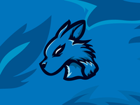 Blue Wolf Logo for Sale