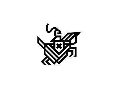 Monogram Horse Knight Style 1 logoinspirations logodesigns identity branding professional flatdesign modern clean simple heraldry kingdom warrior horseknight knight horse strong bold lineart geometric monogram
