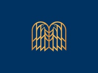 Double Head Eagle Symbol Logo