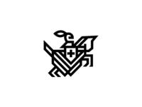 Horse Knight Monogram Style 3
