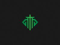 Sword Line Art Gaming Logo Concept