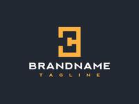 3 C B Letter Logotype