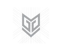 MG Spartan Helm Monogram Logo
