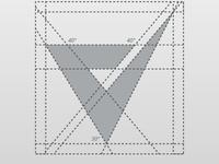 Letter V Mark Monogram