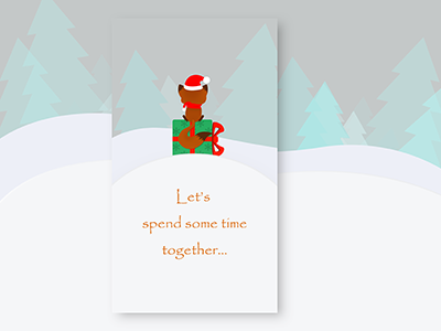 Flat start/launch page:Let's spend some time together