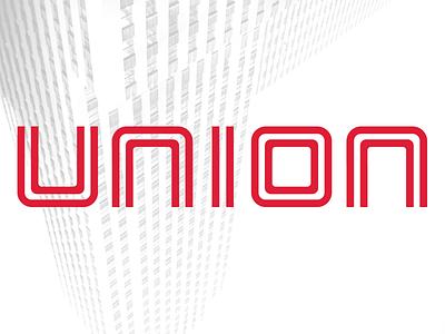 Union brand identity lettering logotype typogaphy