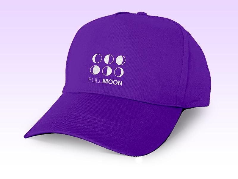 Full Moon Baseball Cap Mockup baseball cap hat mockup lunar wane wax moon full