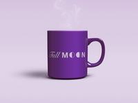 Full Moon Mug glass cup mockup wane wax lunar moon full coffee joe mug