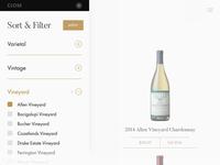 Wine Filters Dribbble