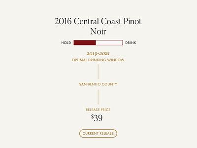 Wine Stats flexbox css vue widget web pricing vineyard vintage stats wine