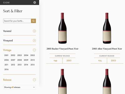 Wine Grid — Filters Sidebar