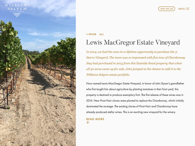 Vineyards Overview Cover intro read more above the fold cover photo sticky vineyard