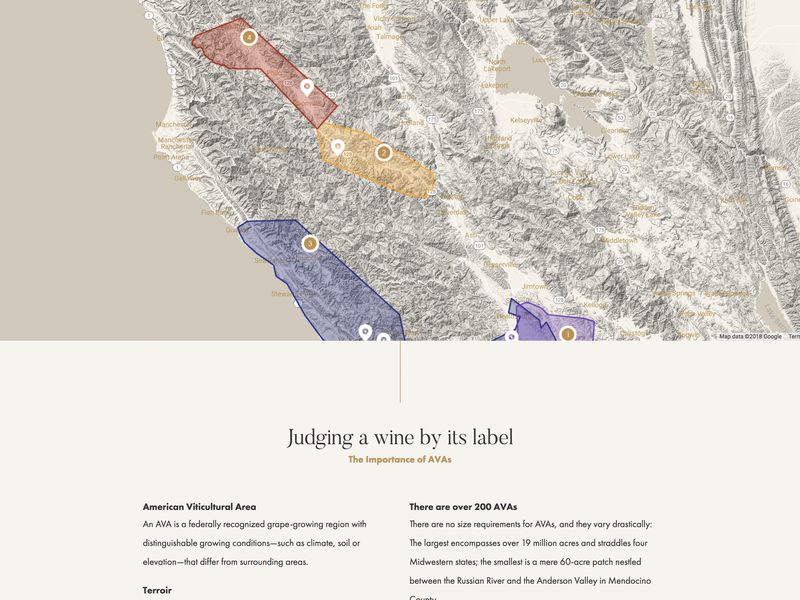 Vineyards Map rule hairline grapes google map california wine ava vineyards