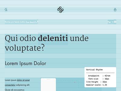 Visual Harmonics ui layout typography modular scale vertical rhythm