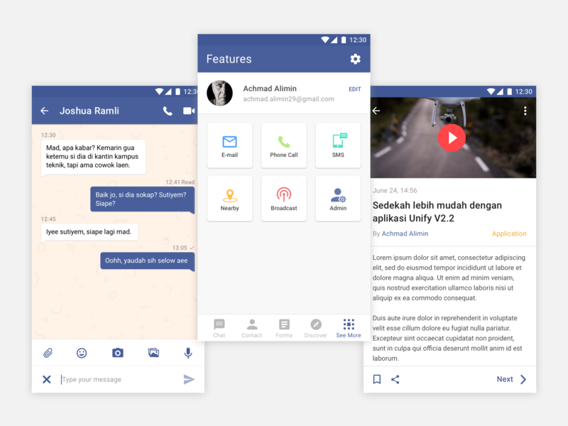 Unify Android App by Achmad Alimin on Dribbble
