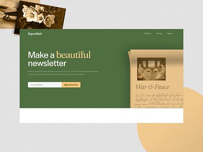 A newsletter app vintage uxdesign ux ui design ui