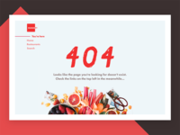 404 Page for a Food Exploration site