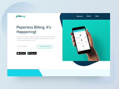 Billeasy New Website landing page uiux web ui gradient color website