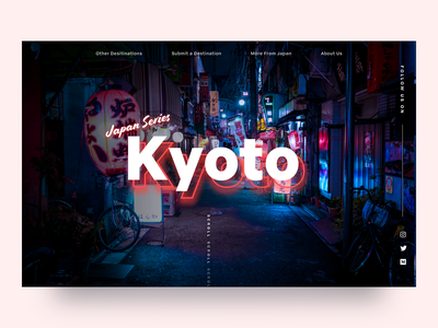 Say Hello to Kyoto lonelyplanet japan travel landing page uiux ux ui