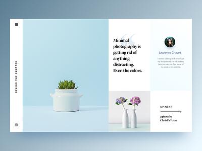 Minimal Image Slider clean web design landing page minimal uiux ux ui