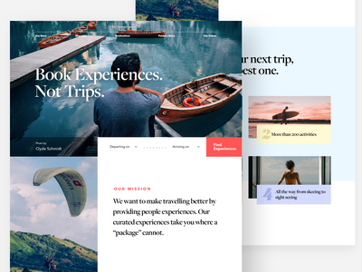Mr Sawyer and Co. airbnb travel agency travel landing page web design ui ux