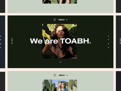 Toabh Animation minimal landing page clean web design ux ui