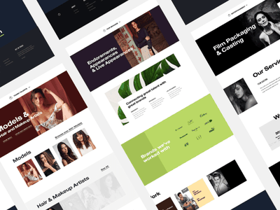 Toabh Other Screens bold models web design website