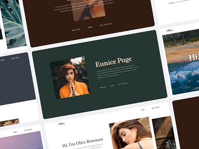 Portfolio Builder Animation personal landing page web design website portfolio template ux ui