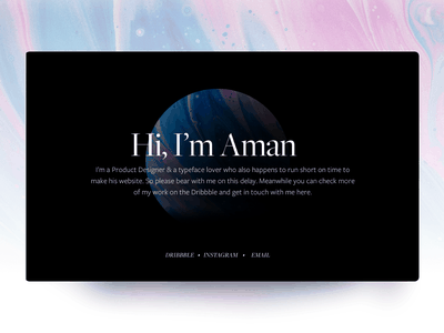 My Porfolio Website (an one pager actually) color design website design portfolio website