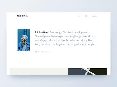 Portfolio Website web design minimal design website portfolio