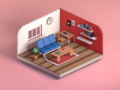 Livin' the designer life. 3dillustration 3d art house illustration interior 3d house