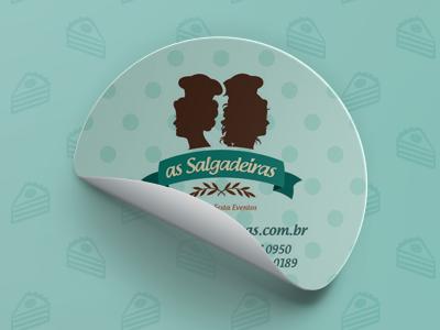 """""""As Salgadeiras"""" Sticker's"""