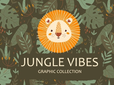 Jungle & Safari Portrait Animals Set