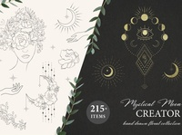 Mystical Moon. Trendy Design Creator