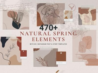 Natural Spring & Instagram Elements