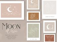 Moon Wave graphic art set