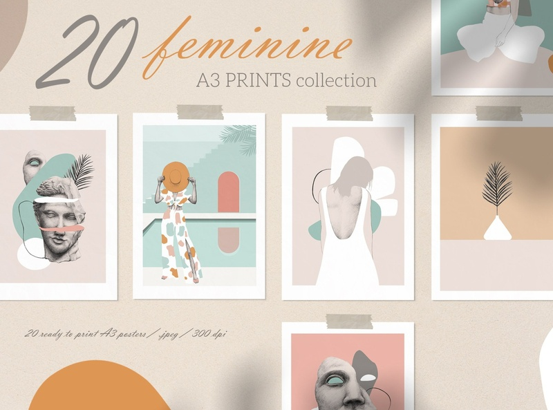 Feminine Prints Collection