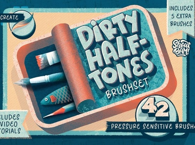 Dirty Halftones Brush Set comic book sketching drawing comic digital drawing procreate brush set vector illustration texture design brushpen procreate brushes procreate brush brush set brushes brush halftone brushes halftone brush halftones halftone