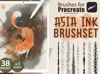 Procreate - Asia Ink Brushes texture grunge design sketch drawing painting paint portrait illustration brush set procreate brushes brushes brush procreate ink brush procreate ink procreate 5 procreate ink brushes ink brush ink