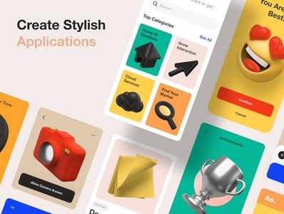 3D Icons Pack multipurpose ux user interface gui figma 3d random custom design customizable ui screen ui icon design icons pack icons icon 3d icon design 3d icons pack 3d icons 3d icon