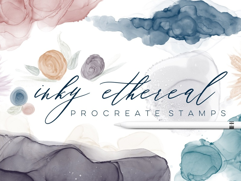 Alcohol Ink Stamps for Procreate ink brush photoshop brush photoshop illustration procreate brush set photo social media color procreate brushes procreate brush design brushes brush procreate stamps procreate stamp procreate ink stamps ink stamp ink alcohol