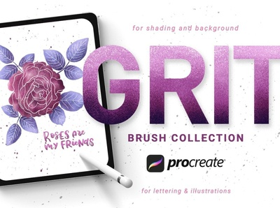 Grit Brushes for Procreate photoshop brush set art graphic elements graphic design background illustrations illustration procreate set design procreate brush set drawing procreate brushes procreate brush procreate brushes brush grit brushes grit brush grit