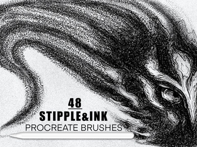 Stipple & Ink Procreate Brushes Pack brushes brush inking brushes dusty stippling design grain texture shade shaders stipple brushes stipple brush ink brushes ink brush procreate brush set procreate brushes procreate brush procreate ink stipple