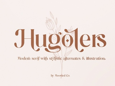 Hugolers Stylish & Floral logo lettering typography typeface bold luxury fonts elegant fonts modern fonts calligraphy font font design graphic design graphics graphic design flowers floral fonts font stylish font stylish