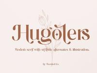 Hugolers Stylish & Floral logo lettering typography typeface bold luxury fonts elegant fonts modern fonts calligraphy font font design graphic design graphics graphic design flowers floral fonts font stylish font stylish
