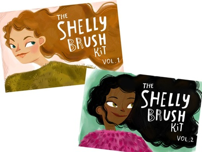 The ShellyBrush Kit Bundle Vol 1+2 draw simple sketching texture brushes brush dry marker dry vector design illustration sketch painting paint drawing procreate brush set procreate brushes procreate brush procreate