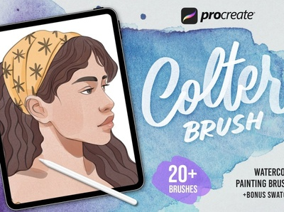 Procreate Colter Brush - Watercolor drawing sketch design paint brushes painting brushes paintings watercolors watercolor art watercolor painting watercolour paint brush painting paint watercolor brushes watercolor brush watercolor procreate brush set procreate brushes procreate brush procreate